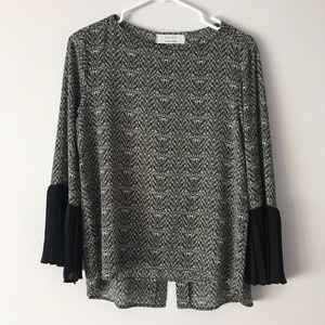 KAOS Made in Italy Patterned Chiffon Blouse